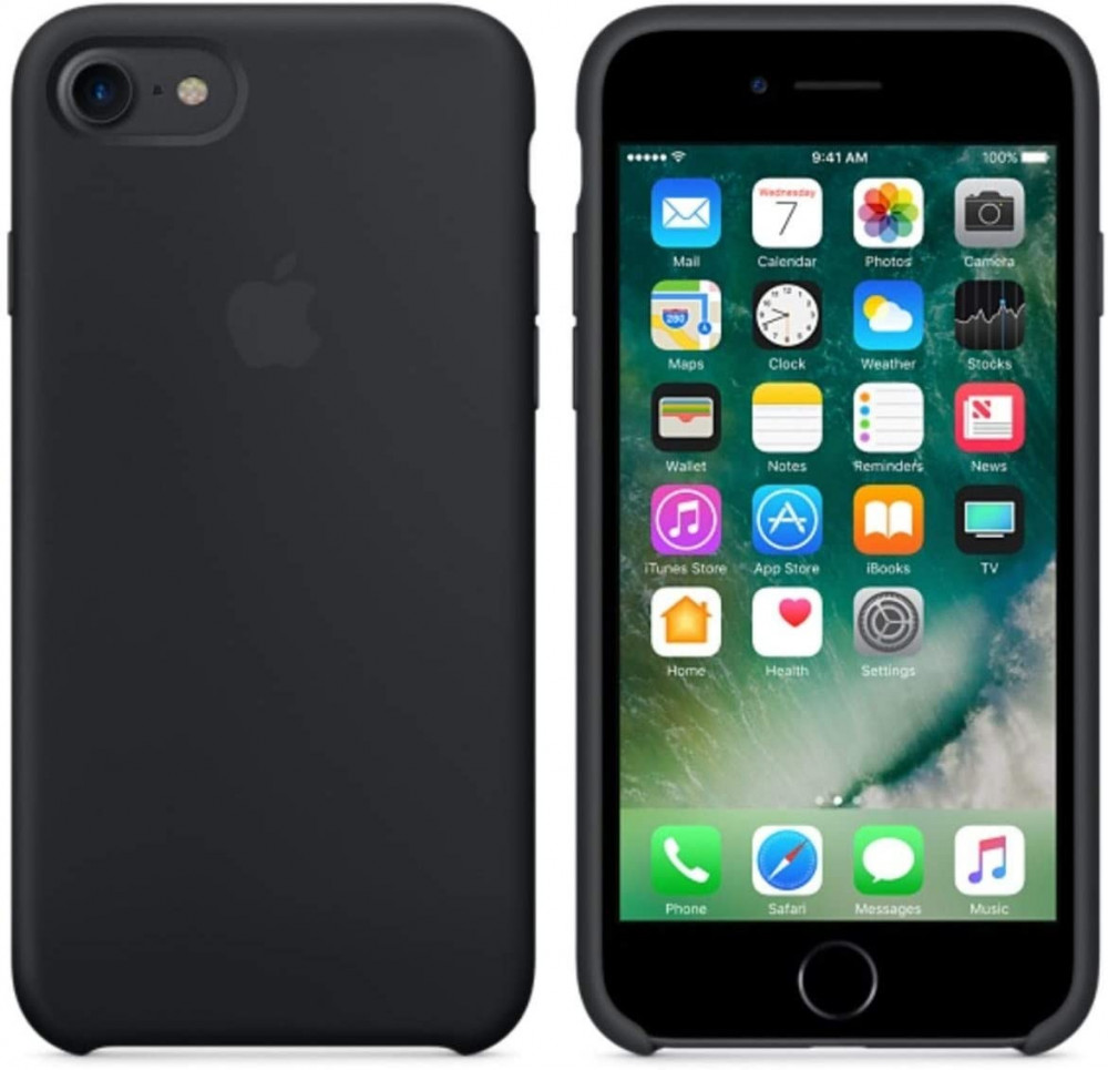 iPhone 8 -iPhone 7 Silicone Case  - Black