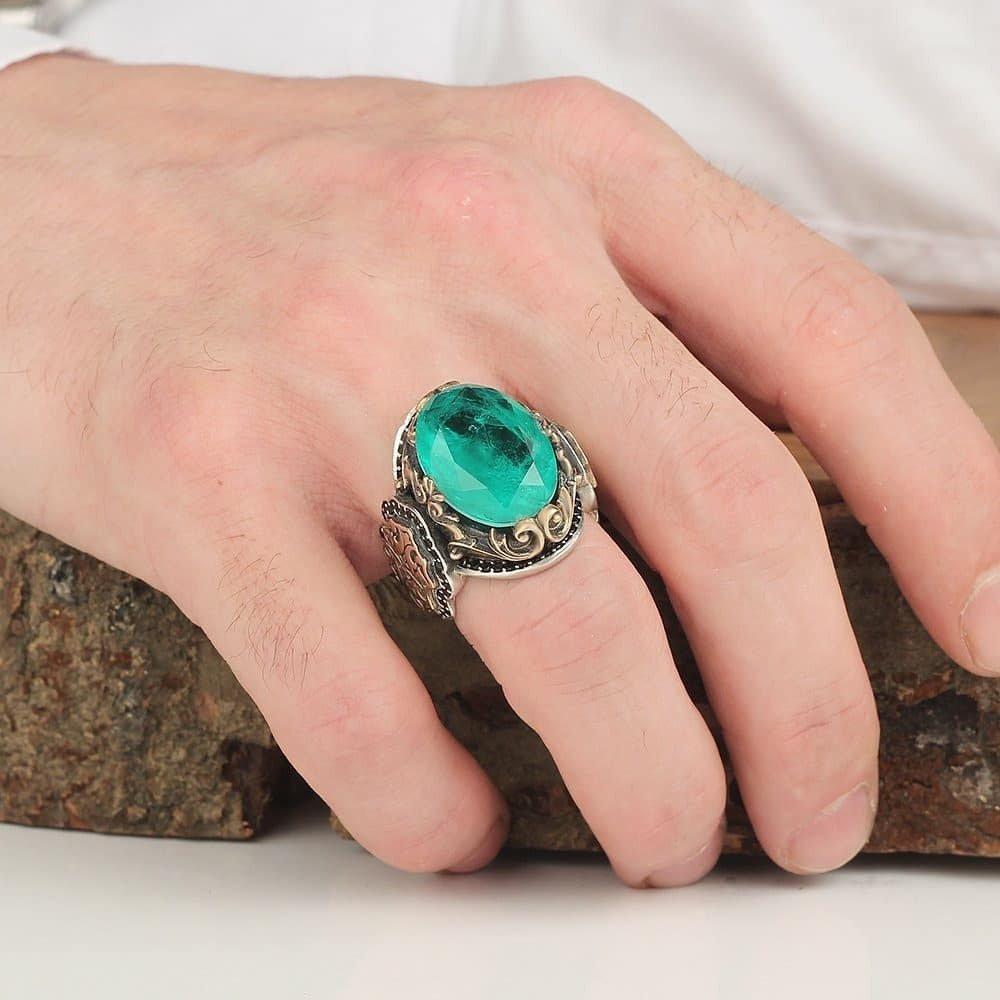 خاتم فضة خالصة بصياغة يدوية راقية