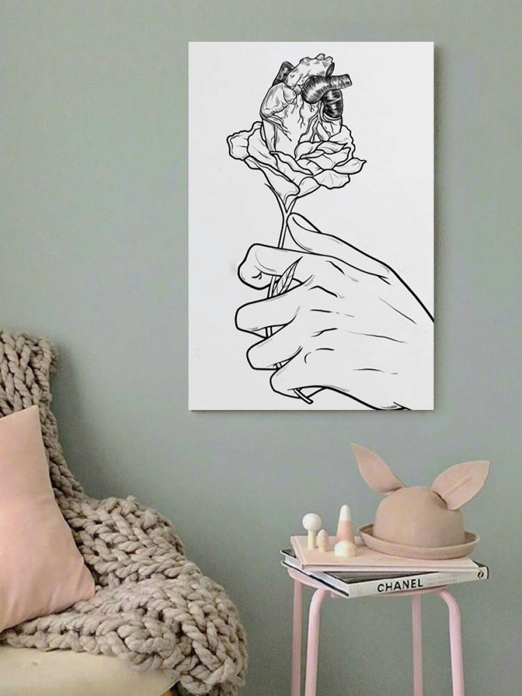 لوحة الوردة خشب ام دي اف مقاس 40x60 سنتيمتر