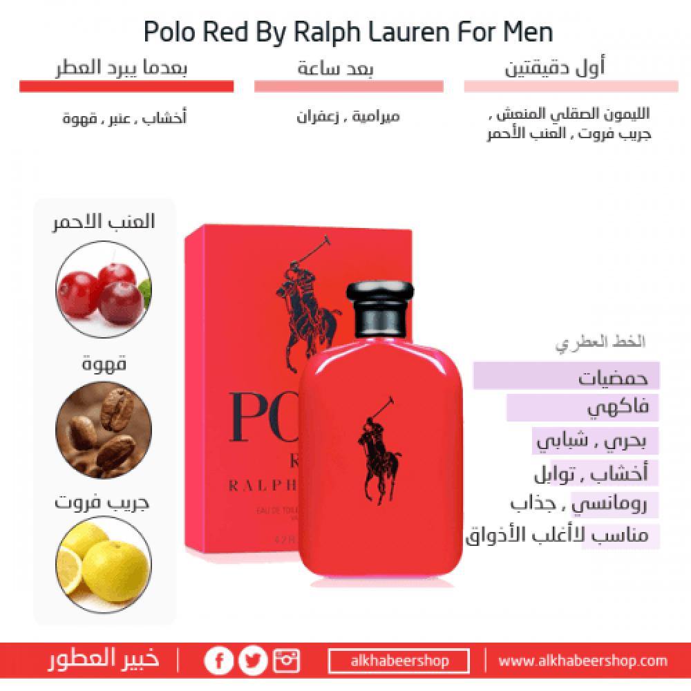 Ralph Lauren Polo Red Eau de Toilette 125ml متجر خبير العطور