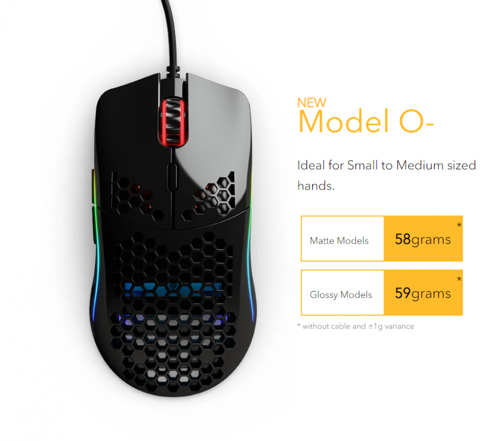 Glorious Model O- Minus Matte Black