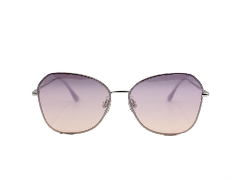 نظارة شمسية تصميم العدسه بيضاويمن ماركة Retro اللون فضي نسائية فاخرة