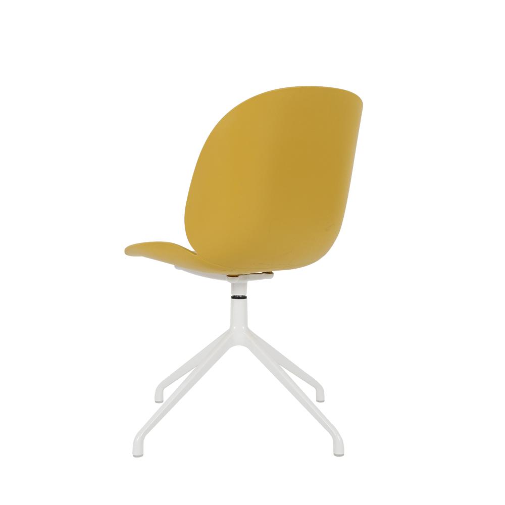 مواسم طقم كراسي 4 قطع لون أصفر غامق بتصميمه المواكب لأحدث صيحات الموضة