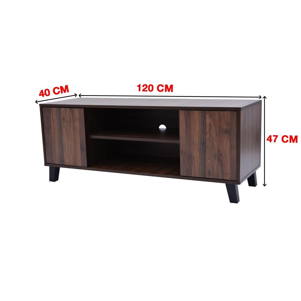 بطاولة تلفزيون من كاما بني2135 -120C-C-OF  brown