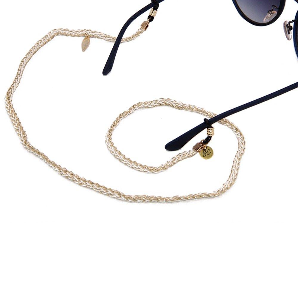 سلسلة نظارة ذهبي فاتح