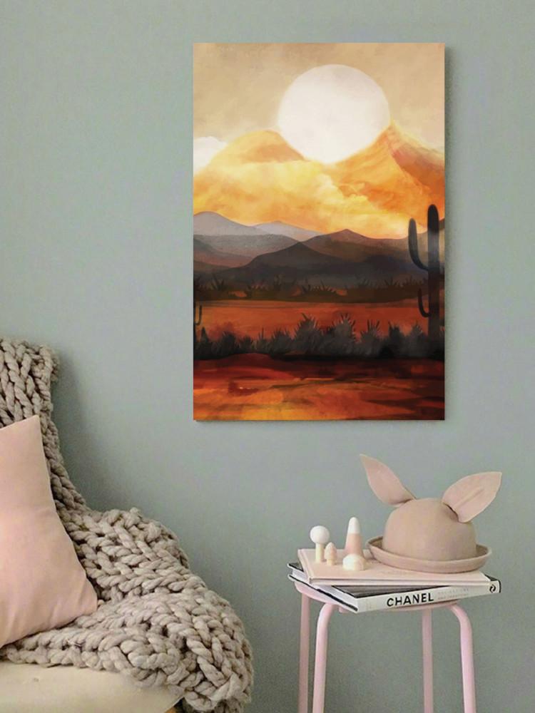 لوحة الصحراء خشب ام دي اف مقاس 40x60 سنتيمتر