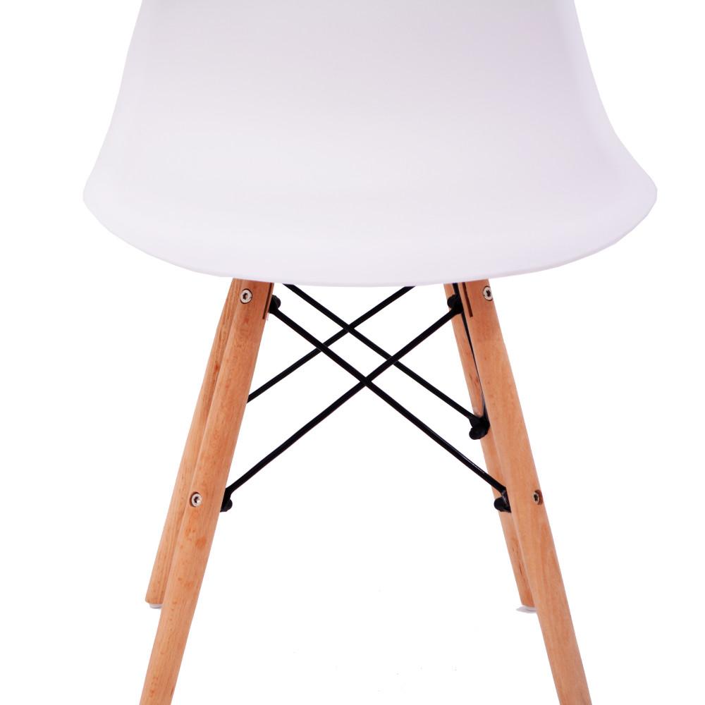 C-W999-WHITE كرسي مودرن فيبر ابيض