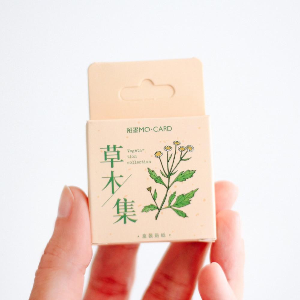 ستيكرات نباتات زهور طوايع بريدية قرطاسية تزيين اللابتوب قرطاسية تغليف