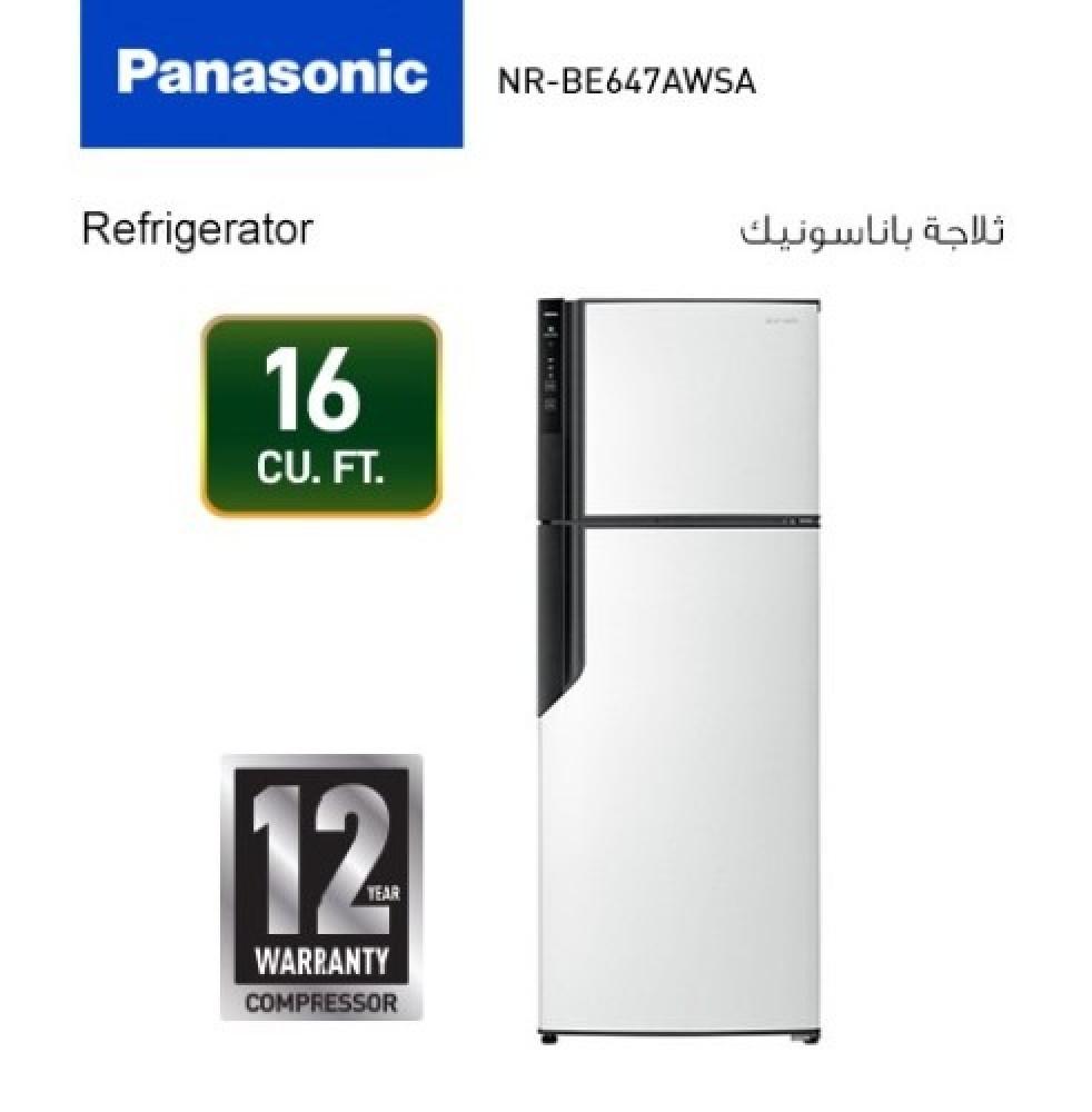 ثلاجة باناسونيك تايواني 16 قدم ابيض Panasonic NR-BE647AWSA