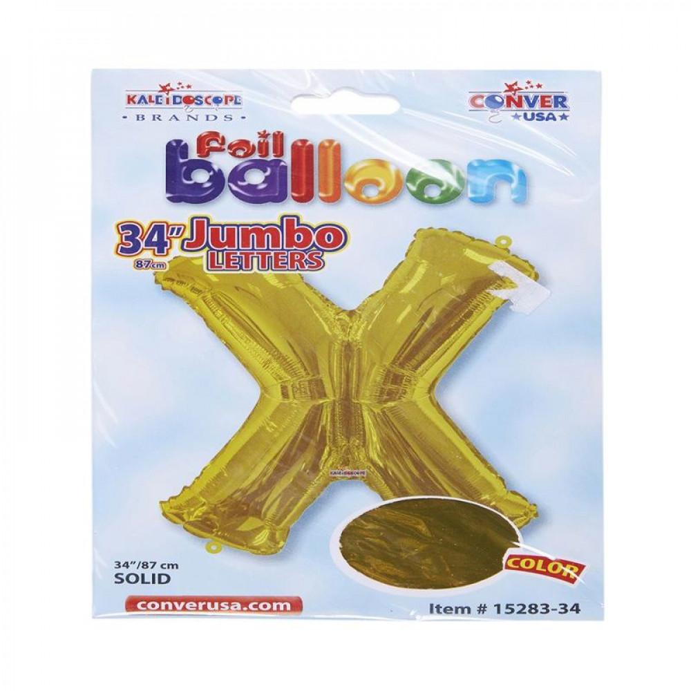 بالون ذهبي, بالون حرف X, بلونات أحرف, Golden Balloon