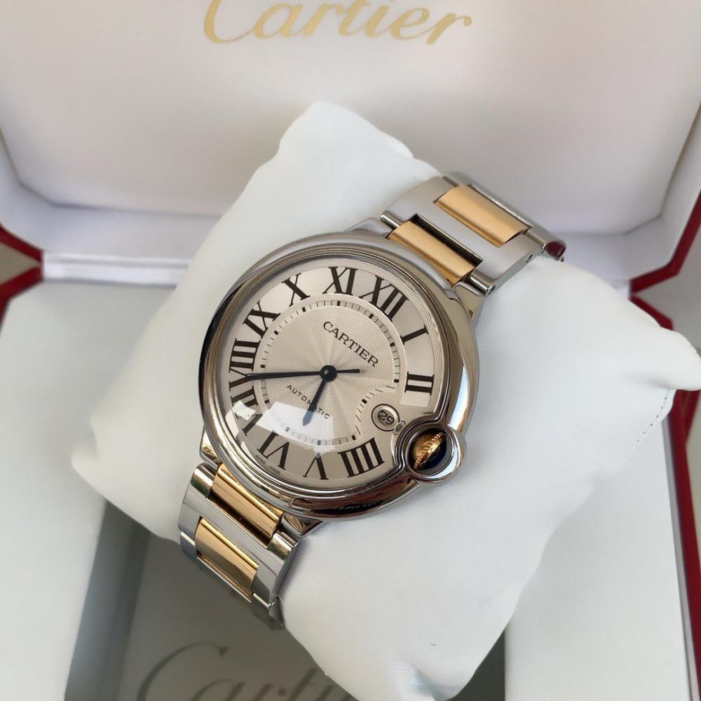 ساعة كارتير بالون بلو ستيل مع ذهب أصفر الأصلية
