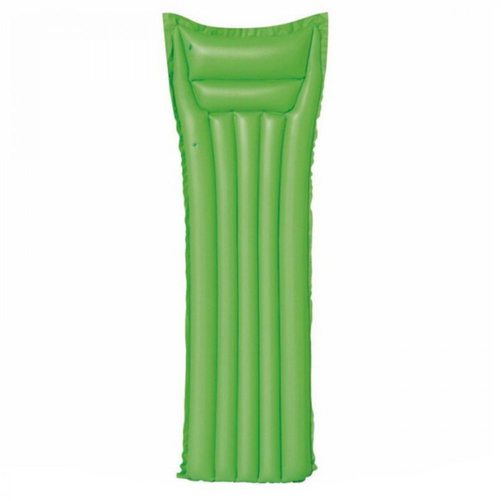سرير سباحة واسترخاء على الماء قابل للنفخ فلورسنت اخضر