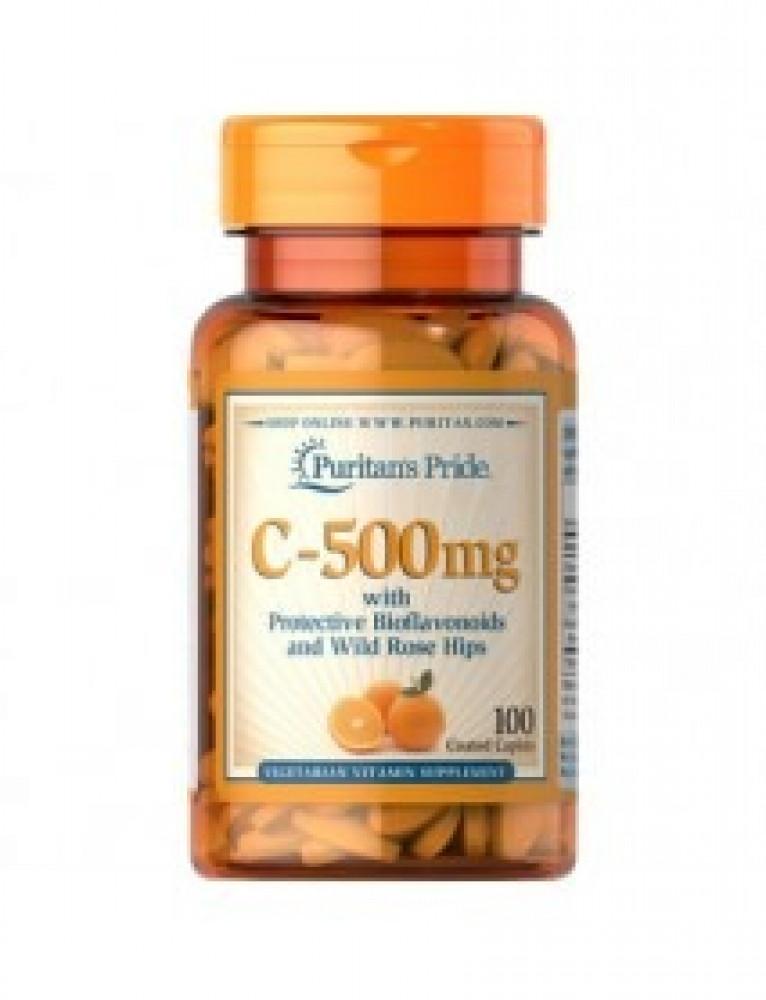 حبوب فيتامين سي 500 ملج 100 حبه بالورد البري
