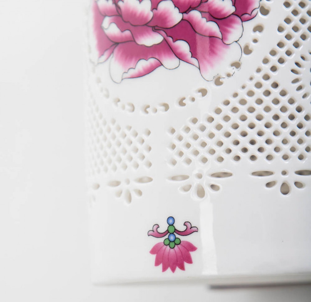 انارة تراثية مفرد ستايل صيني بزجاج مزخرف - فانوس