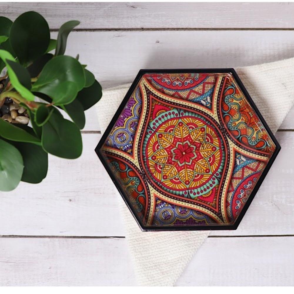 طقم صواني خشب تقديم روعه سداسيه الشكل - داما - متجر لوازم اكسسوارات