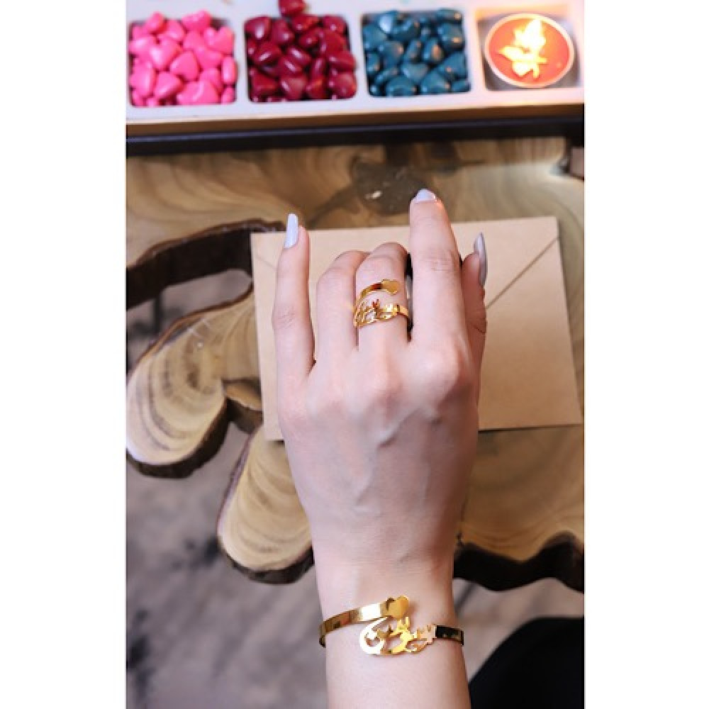 شراء اجمل خاتم نسائي حب - داما - متجر لوازم اكسسوارات