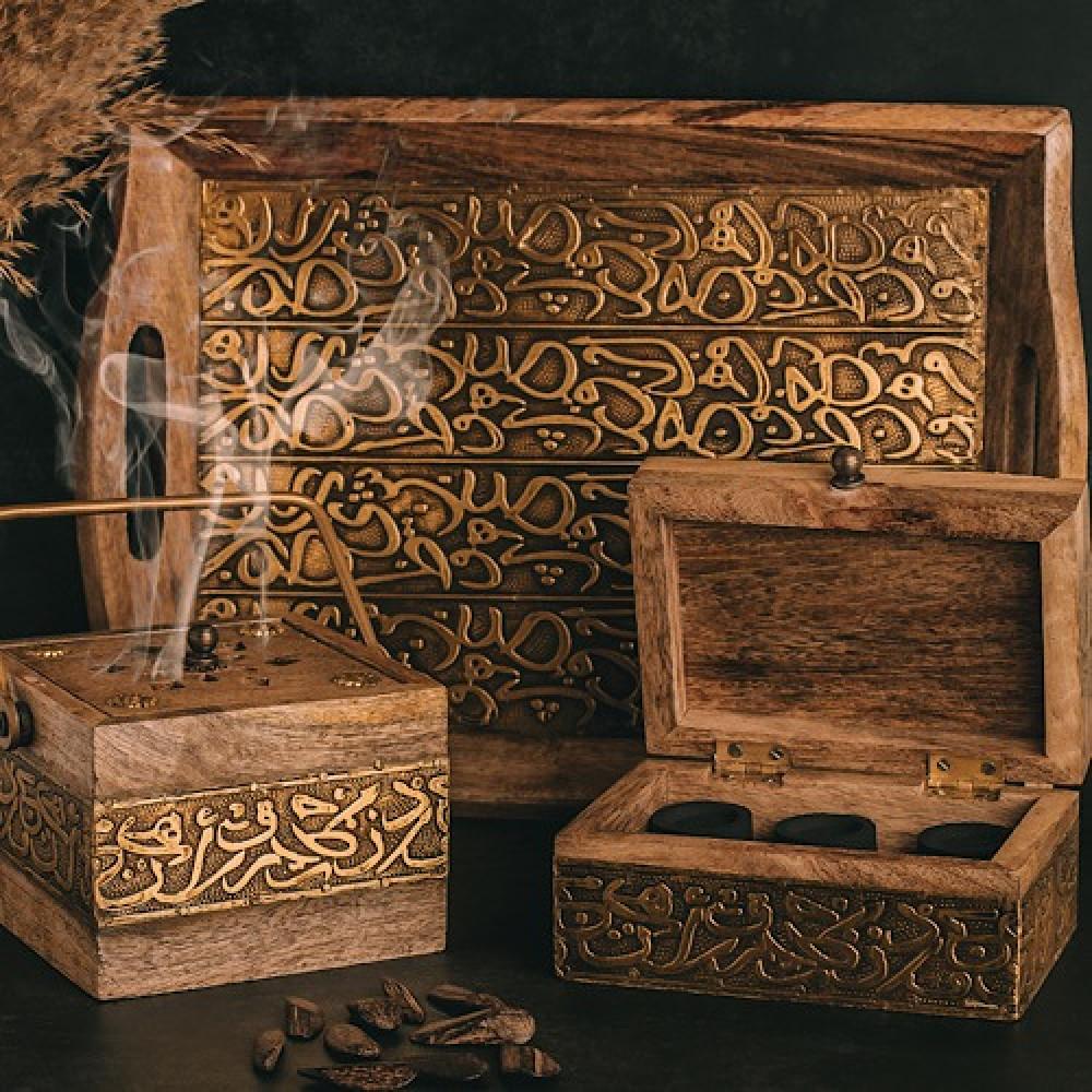 طقم صواني خشب تقديم روعه - داما - متجر لوازم اكسسوارات