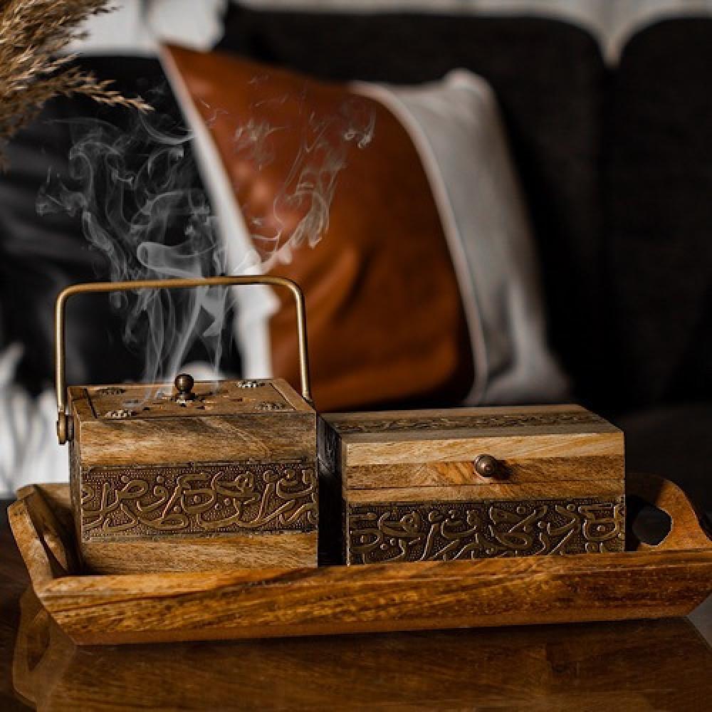 اجمل طقم صواني خشب تقديم روعه - داما - متجر لوازم اكسسوارات