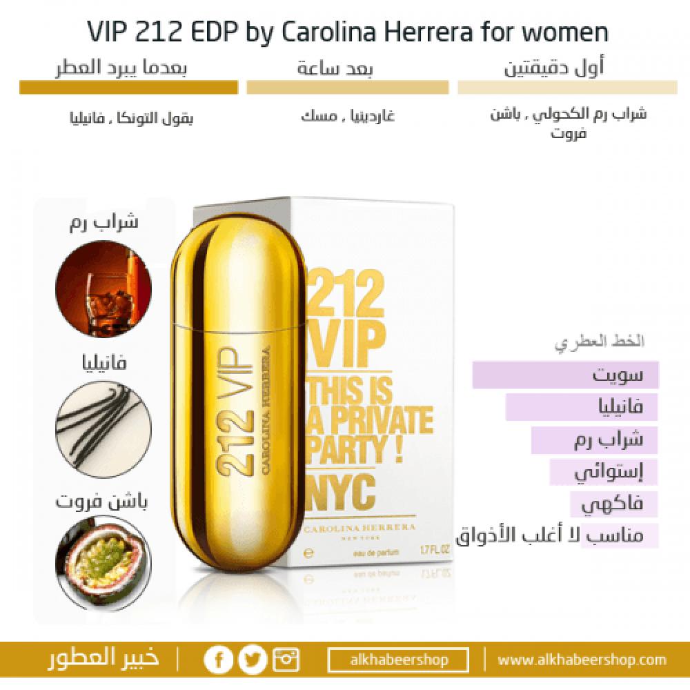 Carolina Herrera 212 VIP Eau de Parfum 50ml خبير العطور