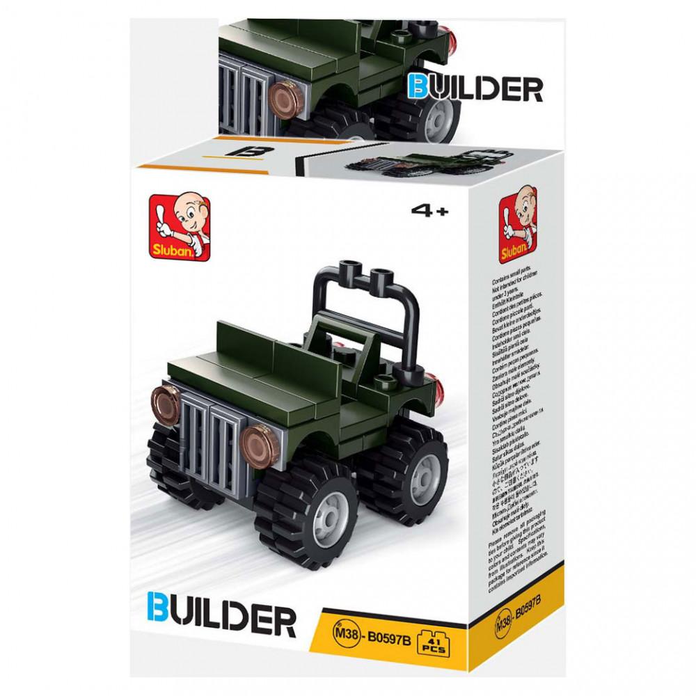 سلوبان, قطع تركيب سيارة جيش,ألعاب,  Toys, Sluban