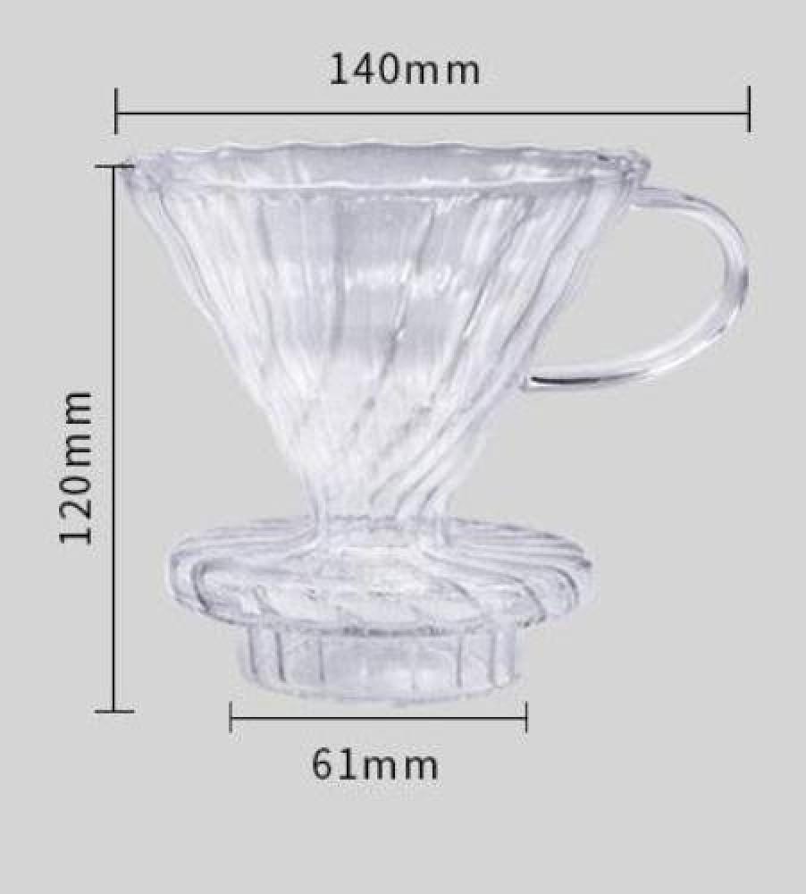 قمع تقطير V60 زجاجي متجر كوفي كلاود محامص ادوات تحضير القهوة