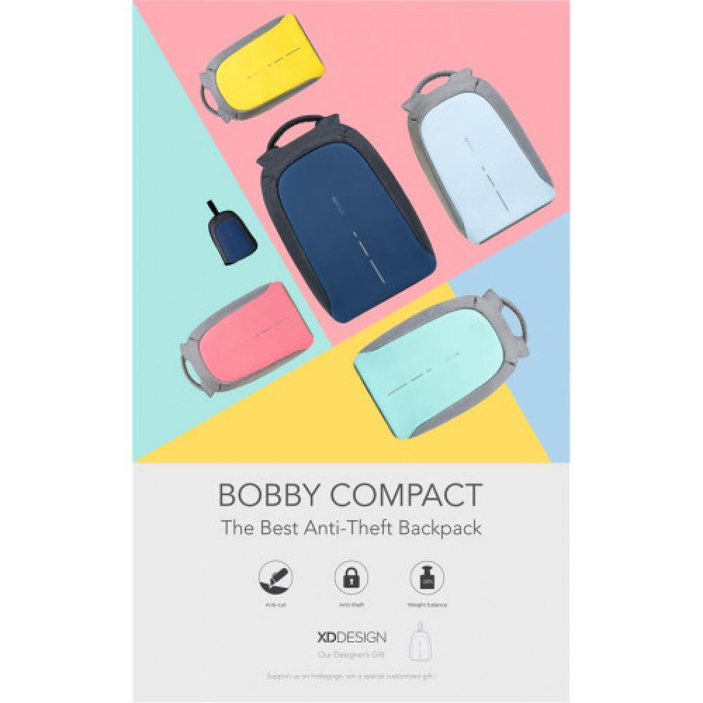 Bobby Compact the best anti theft backpack Zebra edition 14