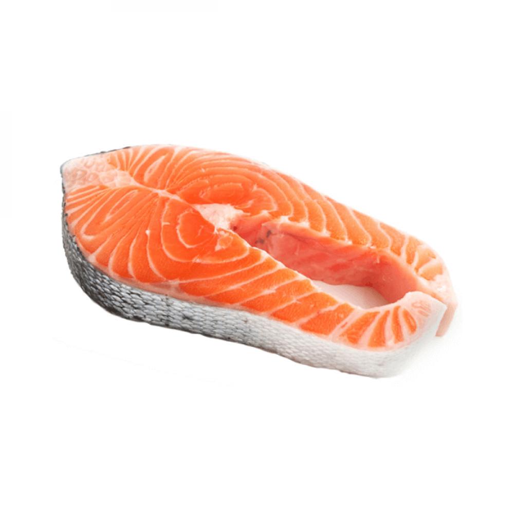 سمك سالمون طازج شرائح Salmon slices