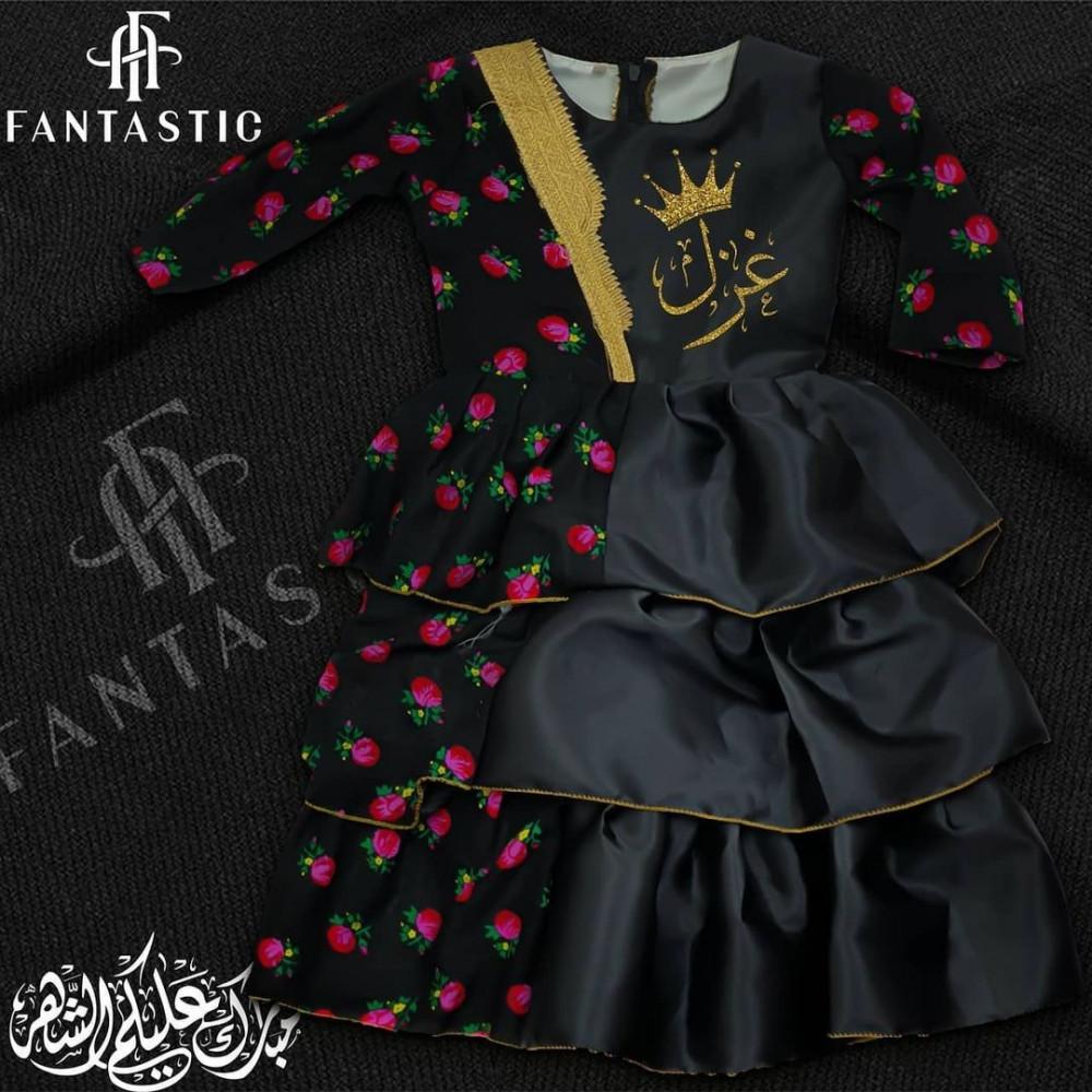 فستان راقي بتصميم الإسم حسب الطلب
