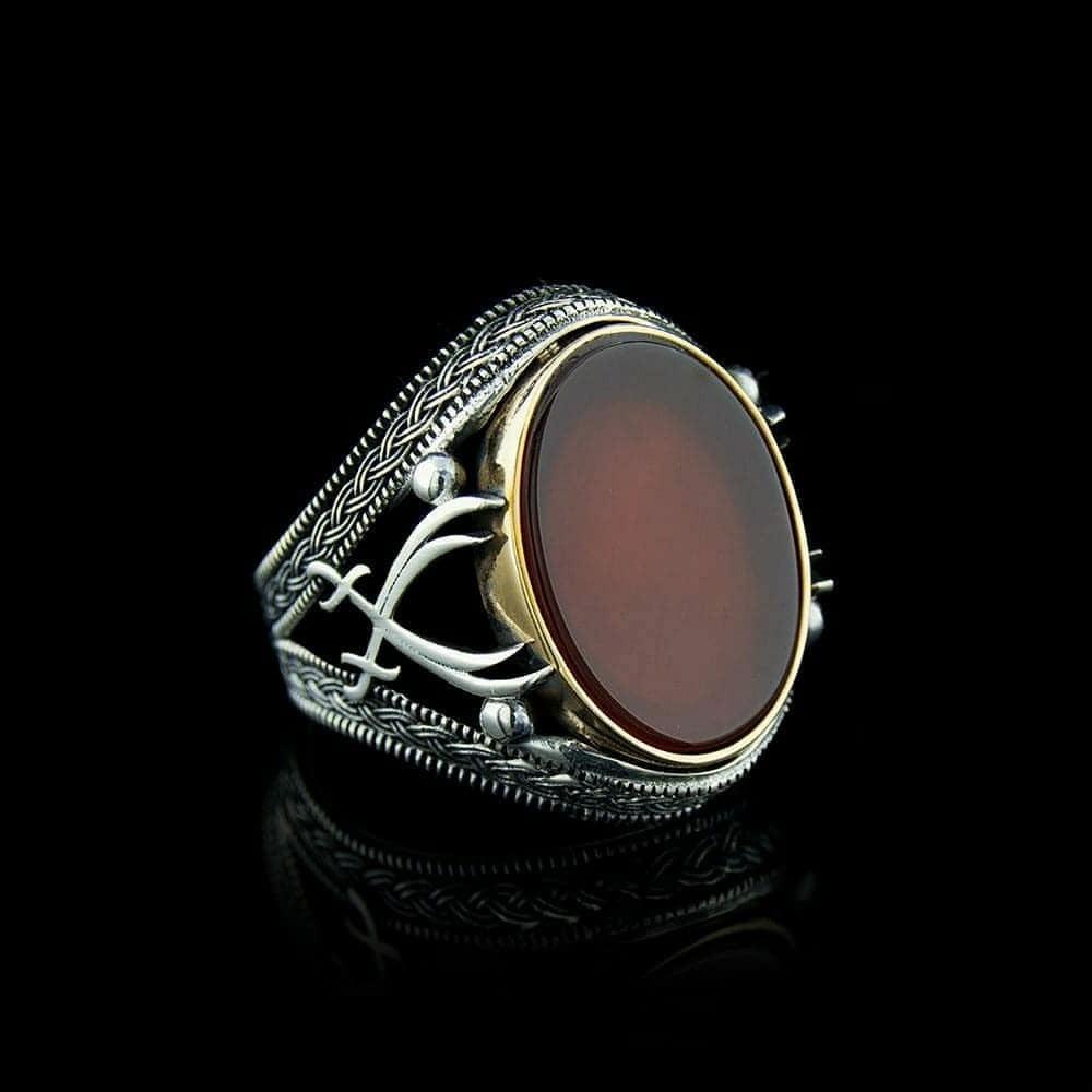 خاتم رجالي راقي من الفضة الخالصة عيار 925