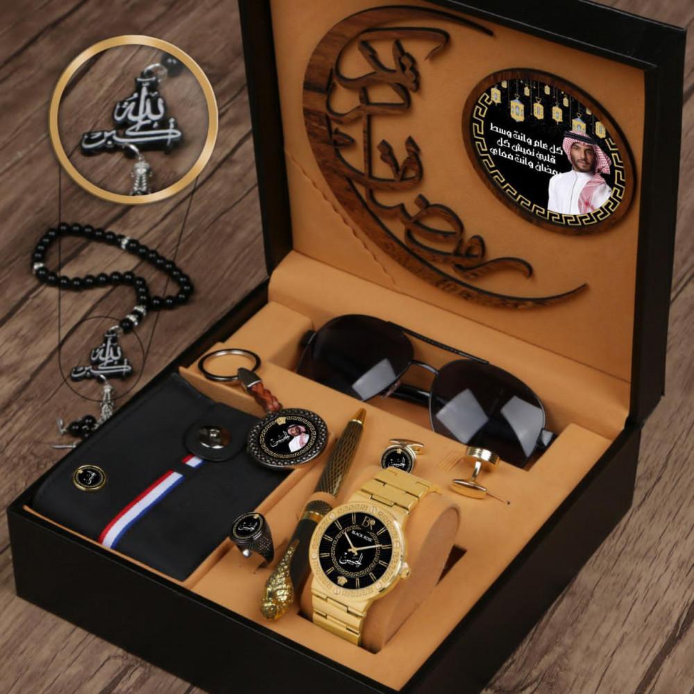 أطقم ساعات رجالية فخمة بتصميم هدية مميزة حسب الطلب