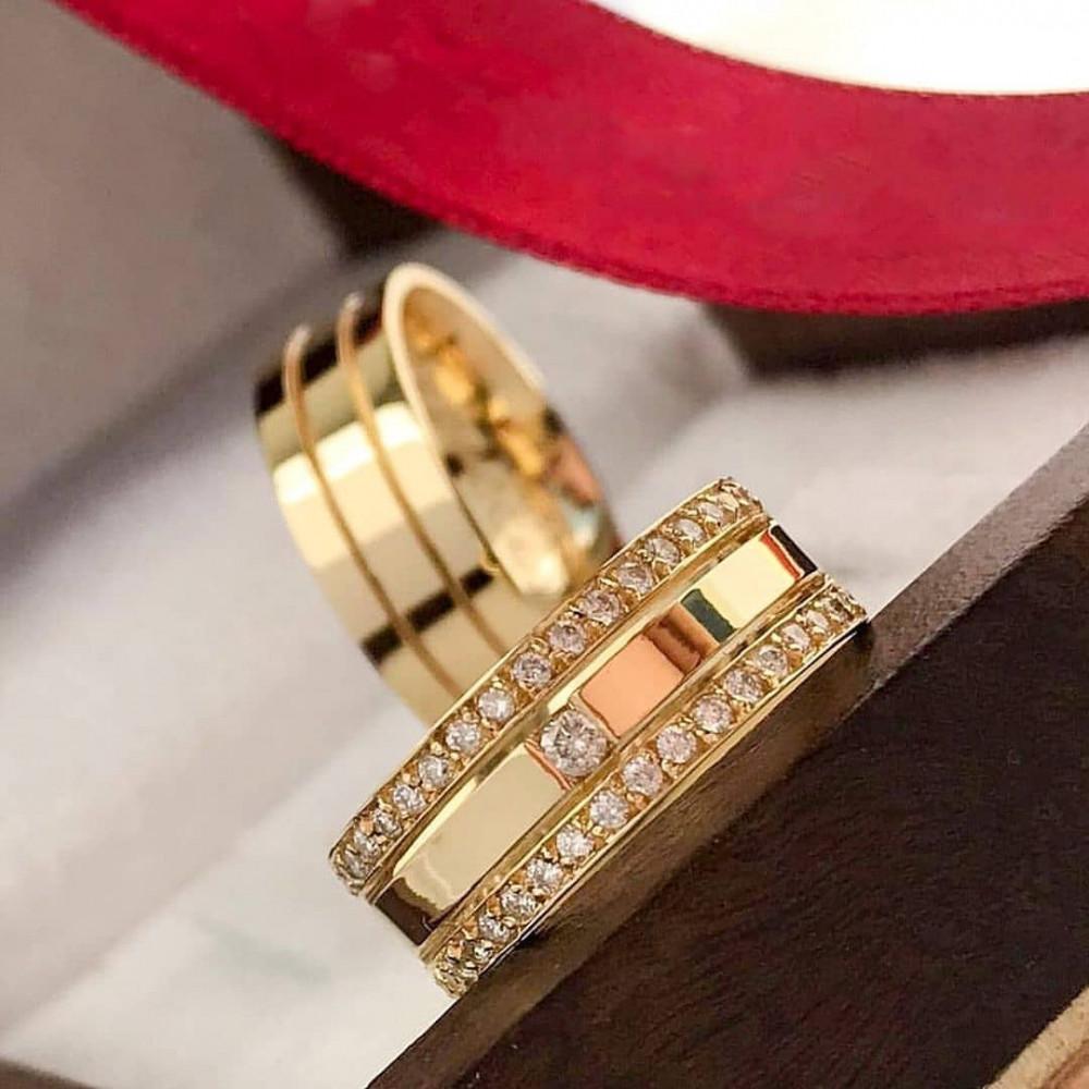 دبل خطوبة او زواج بصياغة مميزة من الفضة الخالصة