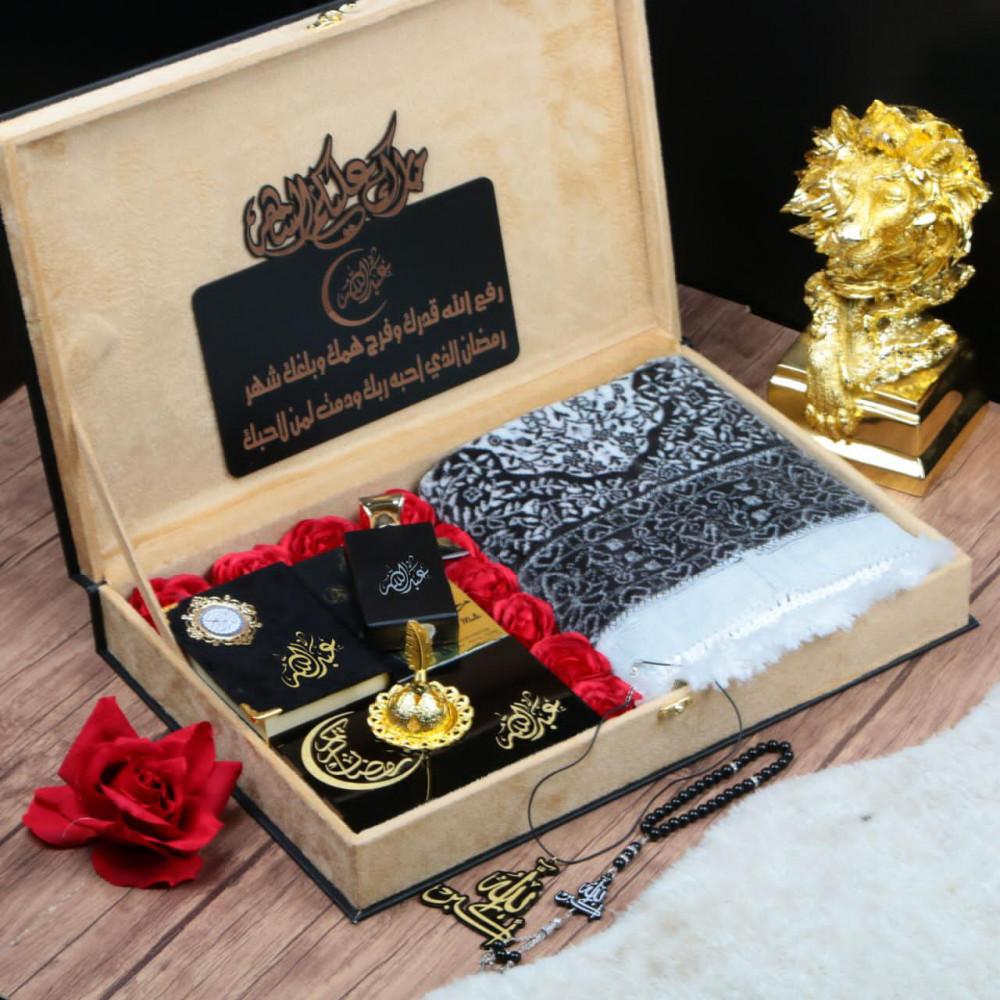 بوكس هدية رجالية رمضانية مميزة بتصميم الإسم والعبارة