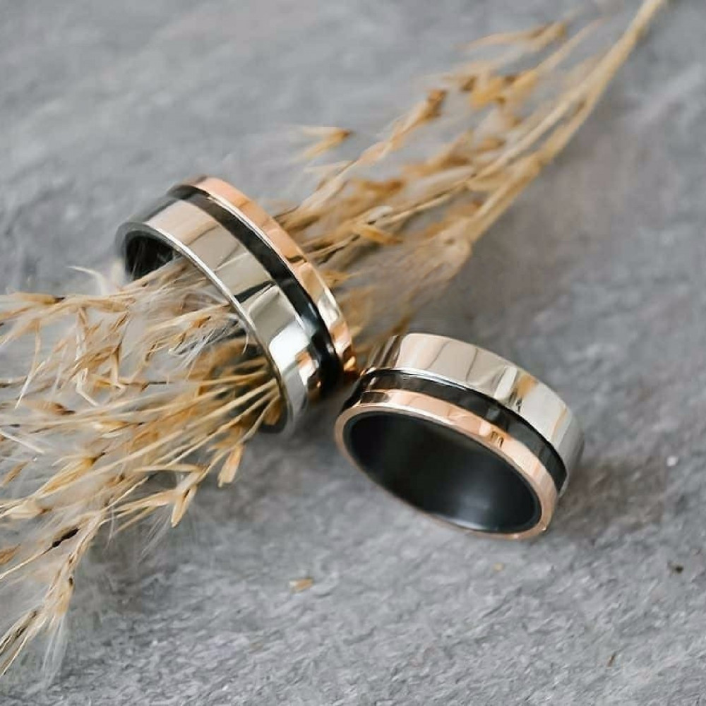 دبل زواج راقية من الفضة الإيطالية الخالصة