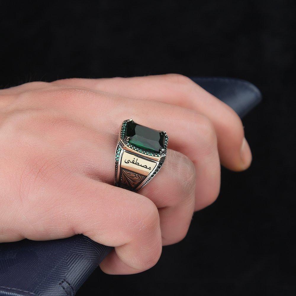 خاتم بصياغة مميزة من الفضة الإسترلينية الخالصة
