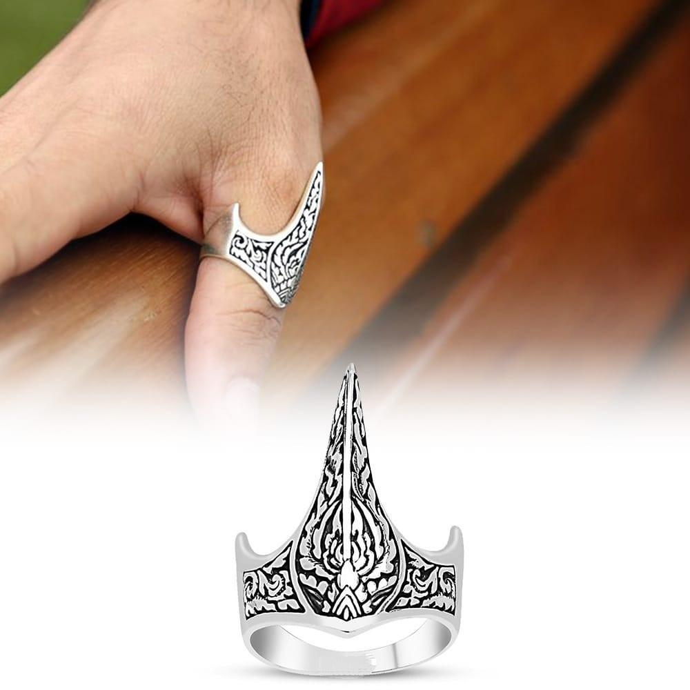 خاتم راقي من الفضة الإسترلينية الخالصة
