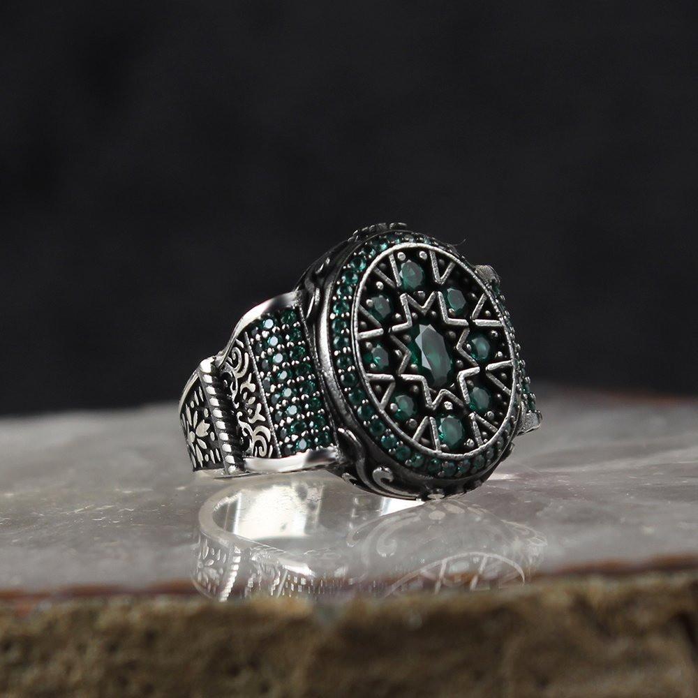 خاتم راقي من الفضة الخالصة بالكامل