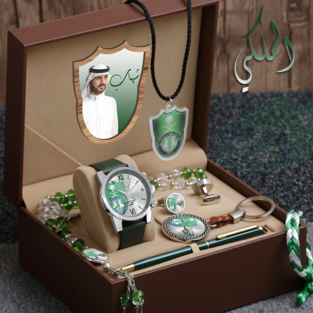 ساعة يد رجالية فخمة مع مجموعة إكسسوارات مميزة