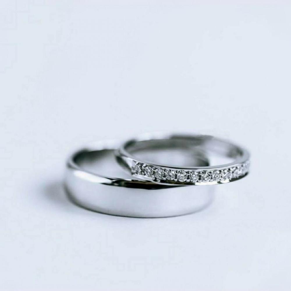 دبل زواج انيقة من الفضة الايطالية الخالصة