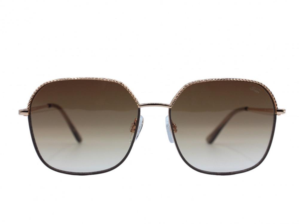 نظارة شمسية ماركة RETRO نسائي لون العدسة عسلي ولون الاطار ذهبي و بني ع