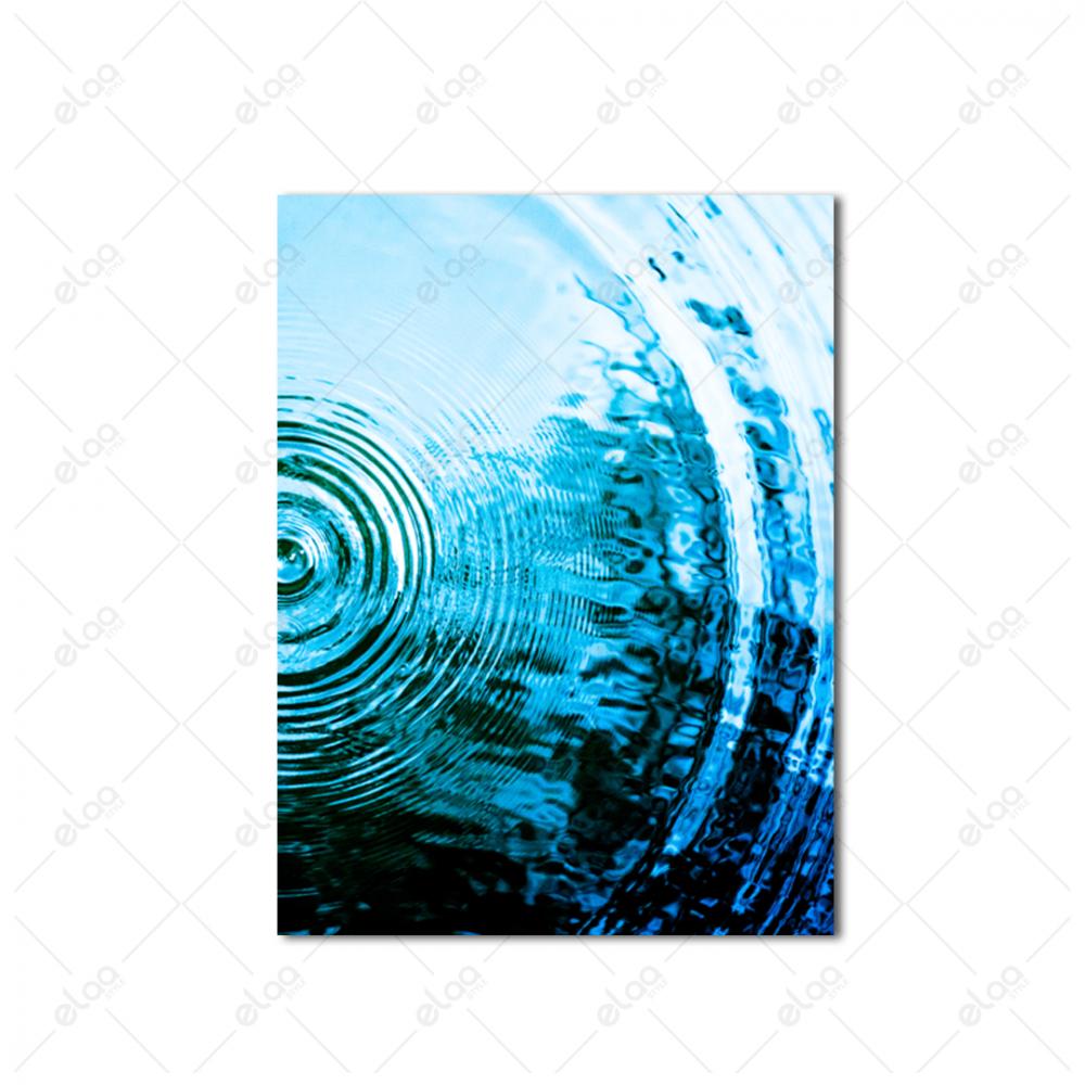 لوحات جدارية لموجات قطرات الماء بدرجات اللون الازرق والمحيطي