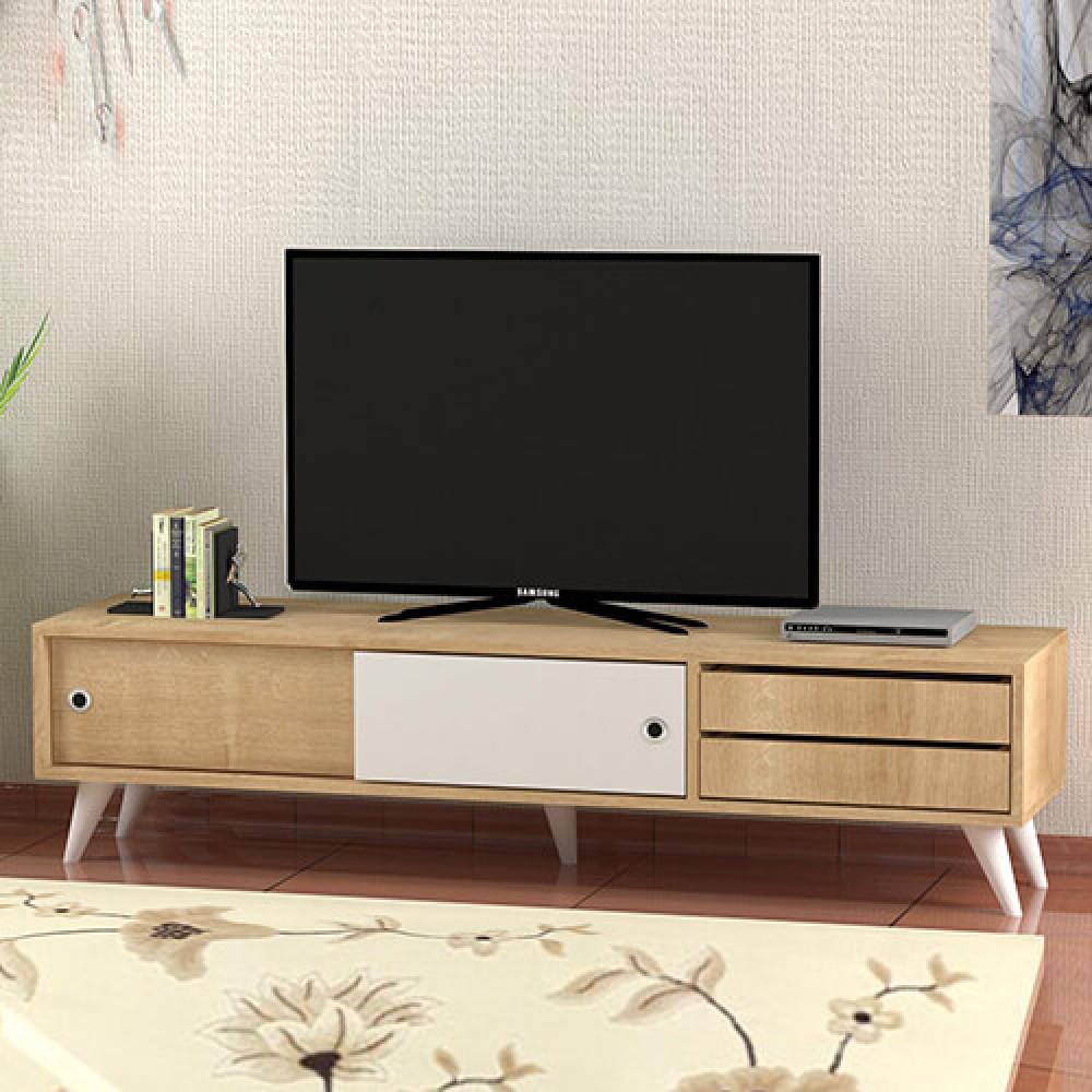 صور طاولة تلفاز خشب برفوف وأدراج أفخم TV Media  طاولات مكتبات لشاشات
