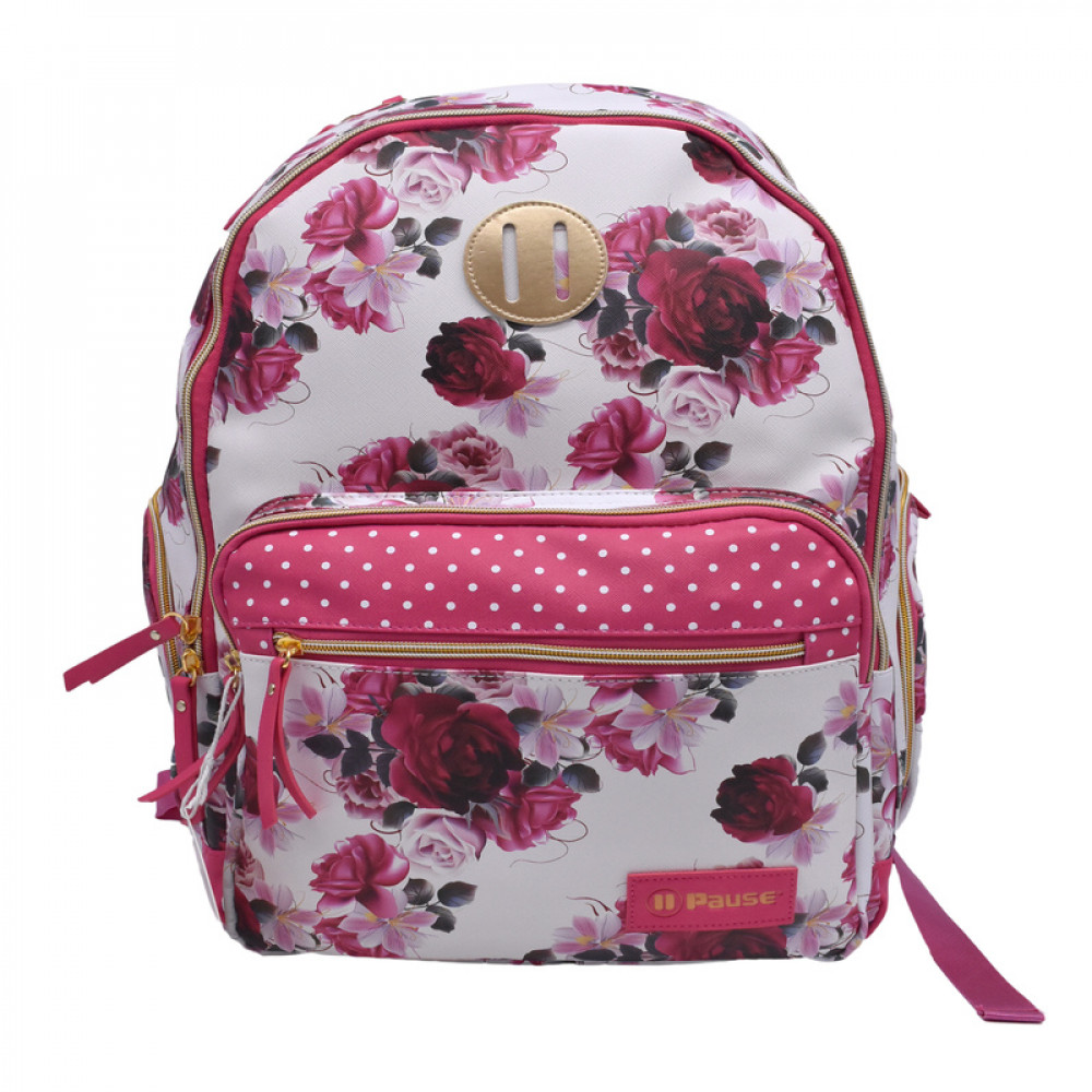 شنطة ظهر جلد زهري بوز, Pause, Backpack