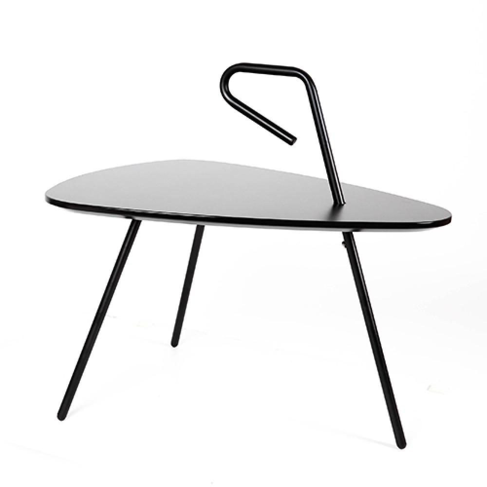 من متجر مواسم طاولة خدمة موديل روك سوداء اللون ذات الشكل البيضاوي