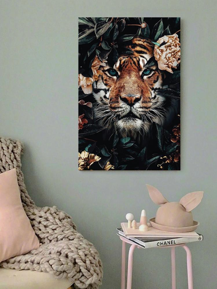 لوحة النمر خشب ام دي اف مقاس 40x60 سنتيمتر