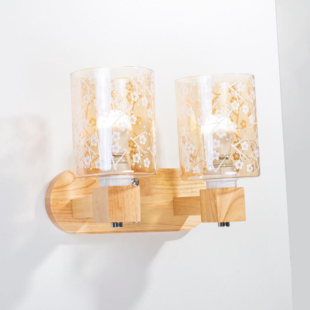 اضاءة جانبية لغرف نوم خشبية مجوز مزخرف - فانوس