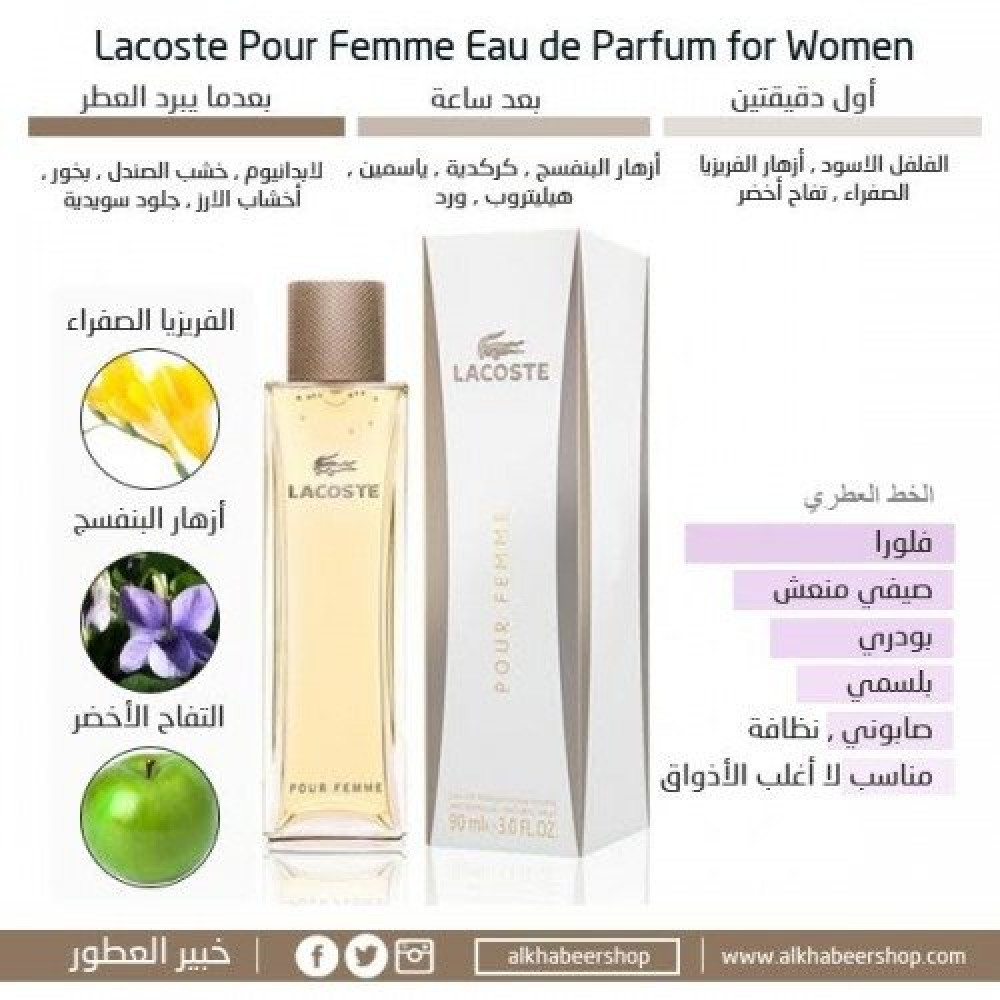 Lacoste Pour Femme Eau de Parfum 50ml خبير العطور