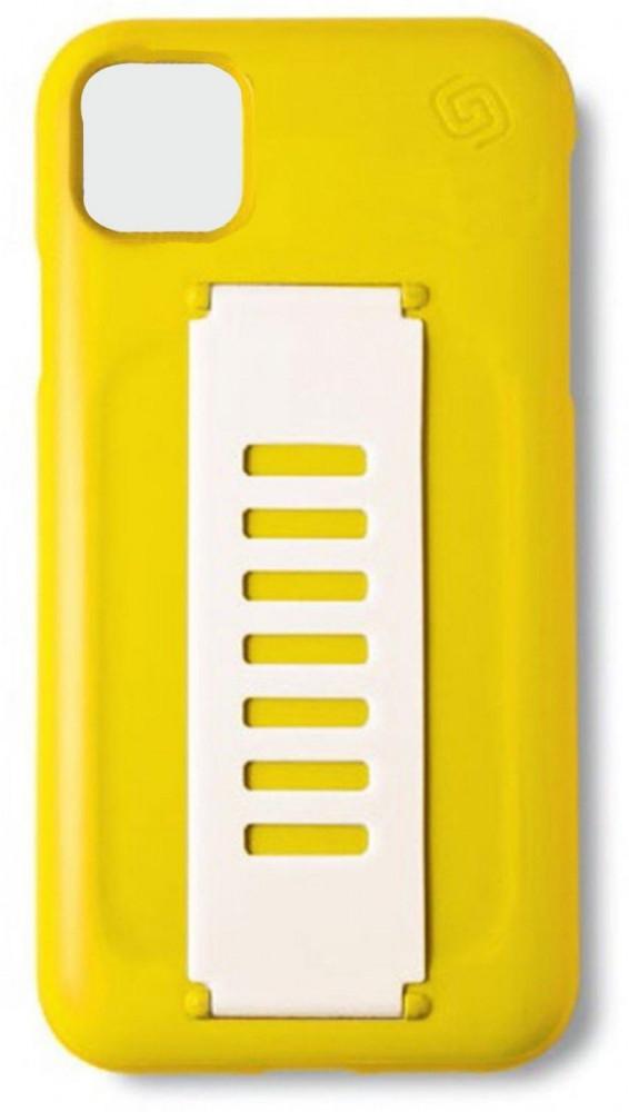 جريب 2 يو غطاء حماية خلفي بمسكة  ايفون 11 برو  اصفر