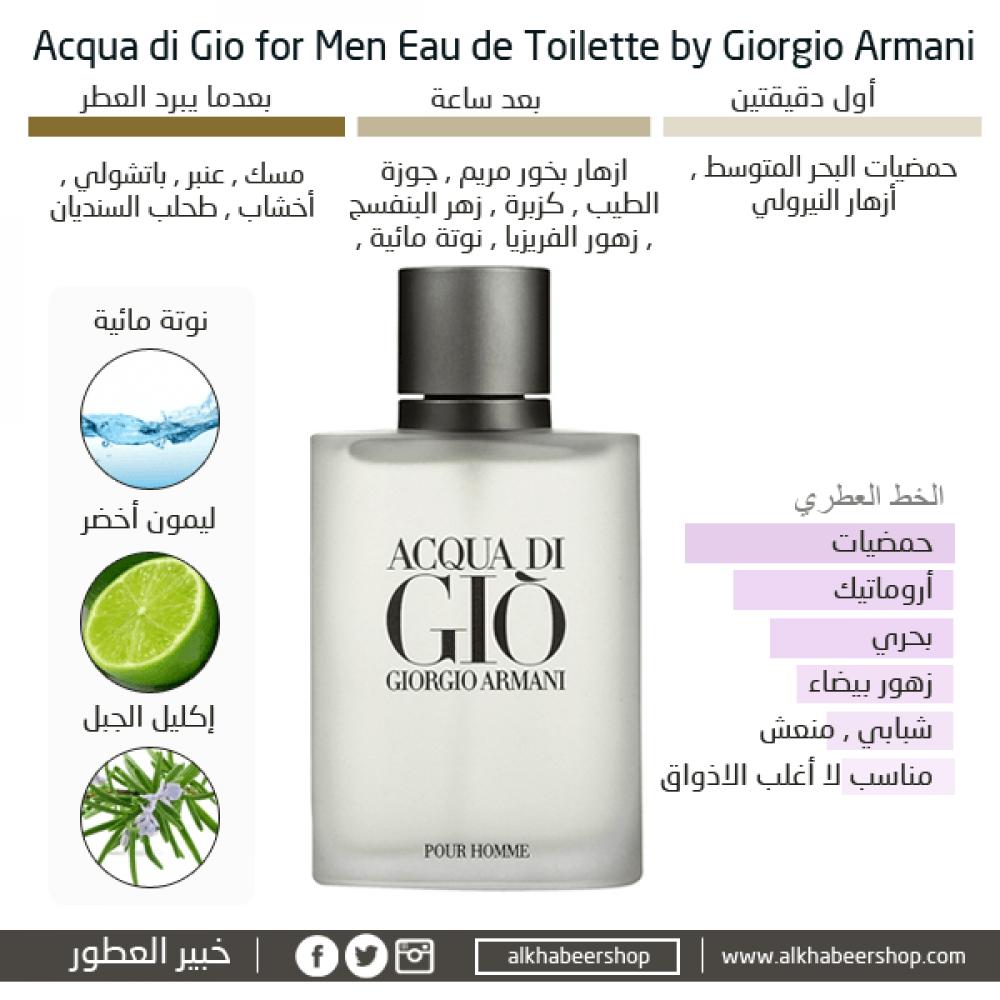Armani Acqua Di Gio for Men Eau de Toilette 200ml خبير العطور
