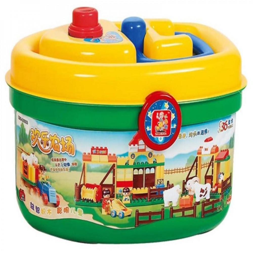 Sluban, Toy Farm, سلوبان, العاب, قطع تركيب المزرعة السعيدة