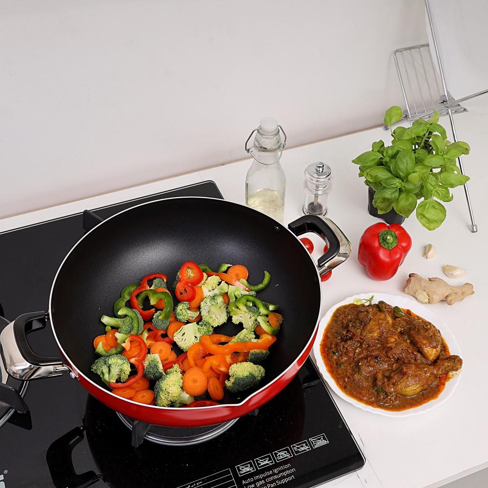 مقلاة طبخ شرقية غير لاصقة من رويال فورد، 30 سم RF325WP30